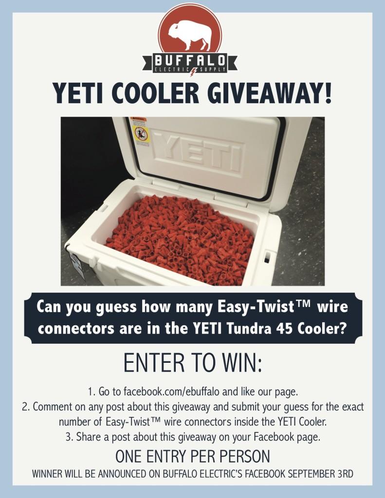 Buffalo Electric YETI Giveaway-Social Media